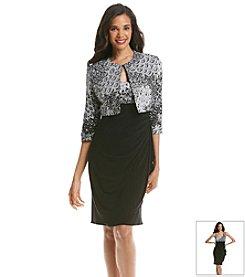 MSK® Printed Bodice Shimmer Dot Jacket Dress