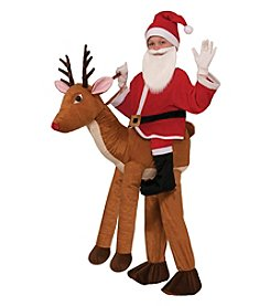 Santa Rides a Reindeer Child Costume