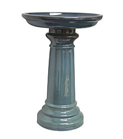 Sun Pottery Ceramic Light Blue Bird Bath