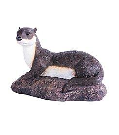 Kelkay Laying Otter Garden Statue