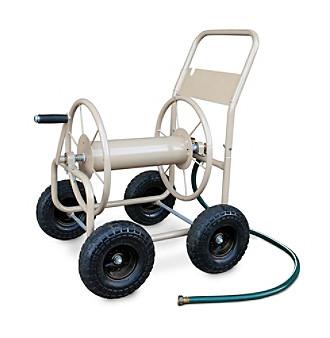 Liberty Garden 4-Wheel Tan Industrial Hose Cart