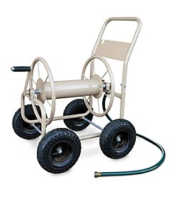 Liberty Garden 4-Wheel Tan Industrial Hose Cart