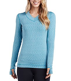 Cuddl Duds® Flexfit V Neck Top