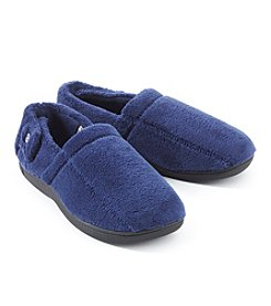 Isotoner Signature Men's Microterry Strap Slippers
