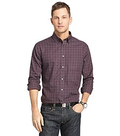 Van Heusen® Men's Big & Tall Long Sleeve No Iron Plaid Button Down