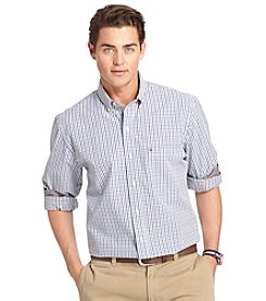 Izod® Men's Long Sleeve Small Plaid Button Down
