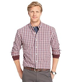 Izod® Men's Long Sleeve Medium Plaid Button Down