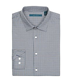 Perry Ellis® Men's Long Sleeve Mini-Check Tattersall Button Down