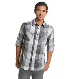 Ocean Current® Men's Long Sleeve Etched Plaid Button Down Shirt
