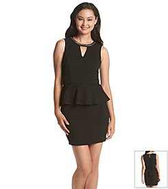 A. Byer Textured Peplum Dress