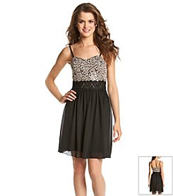 A. Byer Rose And Sequin Dress