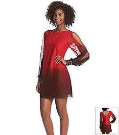 A. Byer Cold Shoulder Ombre Dress