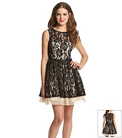 Bee Darlin' Lace Illusion Neck Dress