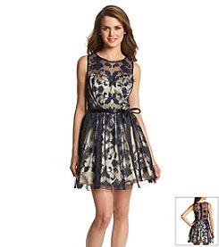 Bee Darlin' Lace Illusion Neck Dress