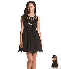 My Michelle® Sequin Lace Tulle Dress