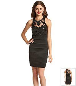 My Michelle® Lace And Sequin Bandage Dress