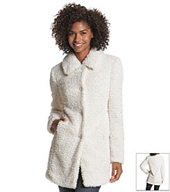 A. Byer Teddy Bear Faux Fur Coat