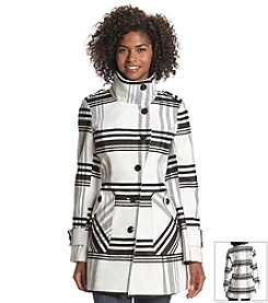 A. Byer Faux Wool Plaid Coat