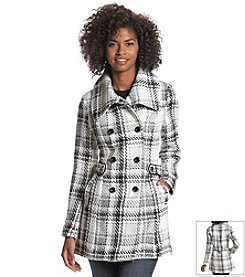 A. Byer Plaid Faux Wool Coat