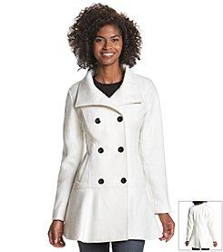 A. Byer Flounce Faux Wool Coat