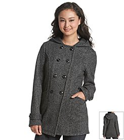 A. Byer Tweed Hooded Coat
