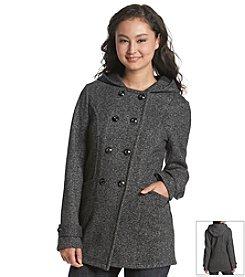 A. Byer Tweed Hooded Coat