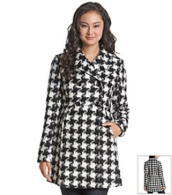 A. Byer Houndstooth Faux Wool Coat