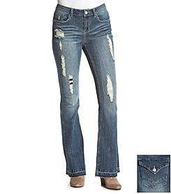 Hippie Laundry Destructed Flare Jeans