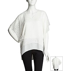 Chaus Double Layered Burnout Blouse