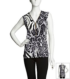 Chaus Animal Swirl Top