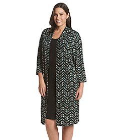 Connected® Plus Size Chevron Sheath Dress