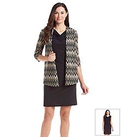 Perceptions Chevron Lace Cardigan Dress