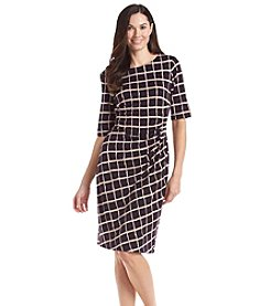 Connected® Grid Pattern Dress