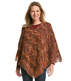 Alfred Dunner® Open Knit Poncho Sweater
