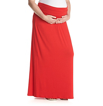 Three Seasons Maternity™ Plus Size Solid Knit Maxi Skirt plus size,  plus size fashion plus size appare