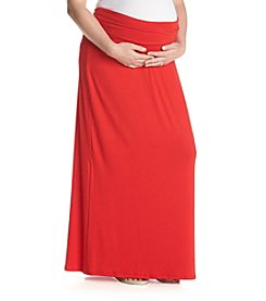Three Seasons Maternity™ Plus Size Solid Knit Maxi Skirt