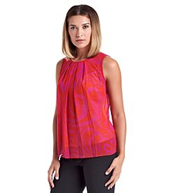 MICHAEL Michael Kors® Printed Pleat Top