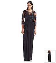 Adrianna Papell® Lace Sequin Gown