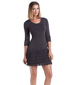 Calvin Klein Fringe Sweater Dress