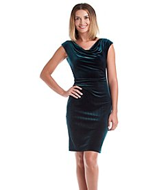 Vince Camuto® Velvet Cowlneck Dress