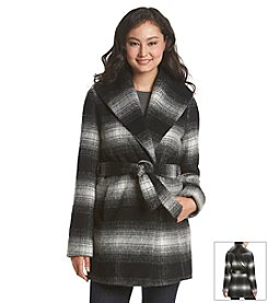 Jessica Simpson Belted Mohair Wrap Coat