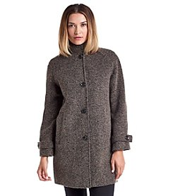Jones New York® Raglan Sleeve Tweed Coat