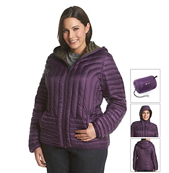 HFX Halifax Plus Size Short Hooded Packable Down Coat plus size,  plus size fashion plus size appare