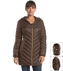 MICHAEL Michael Kors® Petites' Three-Quarter Packable Chevron Jacket
