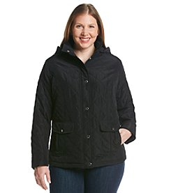 Breckenridge® Plus Size Solid Short Quilted Coat