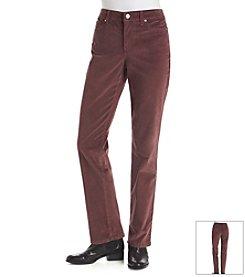 Bandolino® Mandie Straight Leg Corduroy Pants