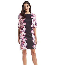 Adrianna Papell® Border Print Scuba Dress