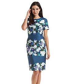 Adrianna Papell® Printed Scuba Sheath Dress