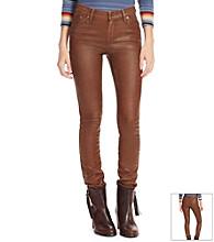 Lauren Jeans Co.® Coated Skinny Jeans