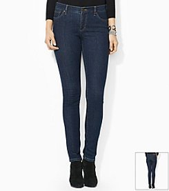 Lauren Jeans Co.® Petites' Super-Stretch Modern Skinny Rinse-Wash Jeans